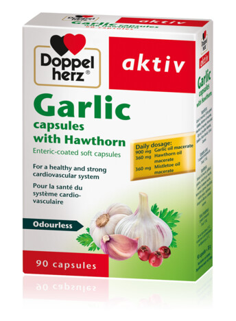 Doppelherz Garlic capsules with hawthorn
